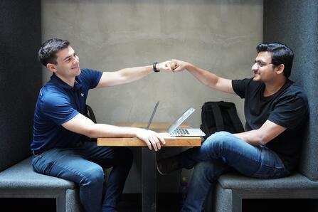 Theo Nasser and Uzair Ahmed - first anniversary blog post